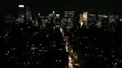 Stock Video Footage of New York City Skyline at Night