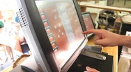 Stock Video Footage of Restaurant Cash Register
