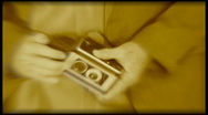 Twin Lens Reflex Camera, sepia Stock Footage