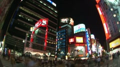 Busy Intersection in Tokyo - stock footage