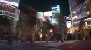 Stock Video Footage of Timelapse of Pedestrians (Tokyo)