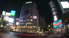 Timelapse of Tokyo's famous Hachiko Crossing in Shibuya - stock footage