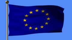 Stock Video Footage of flag of european union