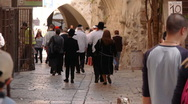 Stock Video Footage of Jerusalem street P1