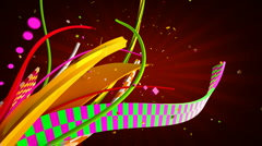 Celebration ribbons Stock Footage
