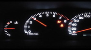 Car dashboard Stock Footage