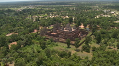 Aerial of the Pre Rup Temple fairly low altitude-05 Stock Footage