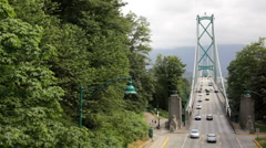 Lion's Gate Bridge HD Stock Footage