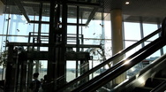 Escalator and Elevator Time laps Stock Footage