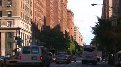 New York City, Upper west side, mid morning shadows Stock Footage