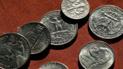 Falling coins Stock Footage