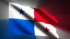 Panama Flag Stock Footage