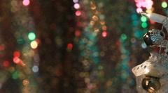 Seasons lights and colors of Christmas Stock Footage