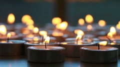 Candles burning Stock Footage