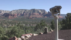 Scenic Sedona View from Airport Mesa Stock Footage