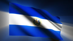 El Salvador Flag Stock Footage