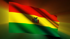 Bolivia Flag Stock Footage