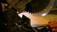 Man Cutting Flooring with Jigsaw Tool Stock Footage