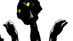t301 alien aliens cartoon hands scary freaky scifi science fiction - stock footage