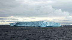 Tabular Iceberg in Antarctica - stock footage