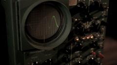 Vintage Oscilloscope (Random Noise) Stock Footage