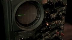 Vintage Oscilloscope Stock Footage