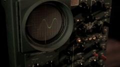 Vintage Oscilloscope (Sine Wave Pulse) Stock Footage