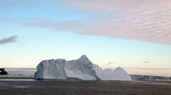 Stock Video Footage of Icebergs in Antarctica at Dusk
