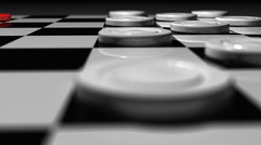 T301 checkers game rack focus Stock Footage
