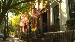 Brooklyn heights neighborhood, New York City - stock footage
