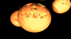 T301 cool pumpkin haloween jackolantern Stock Footage