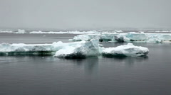 Icebergs in Antarctica Peninsula with Snow Fall - stock footage