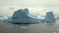 Icebergs in Antarctica Peninsula - stock footage