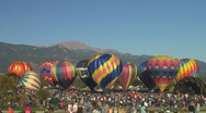 Stock Video Footage of several hot air balloons lift off