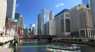 Chicago River Time Lapse Stock Footage