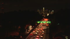 Rush hour traffic - stock footage