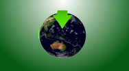 Stock Video Footage of Recycle Earth 06