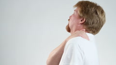 Man Shoulder Pain Stock Footage