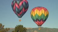 Stock Video Footage of pair of hot air balloons