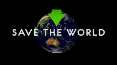 SaveThe World 01 alpha Stock Footage