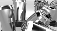 T301 recycle cans can al Stock Footage