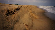 T301 slow motion beach retro 35mm film 16mm Stock Footage