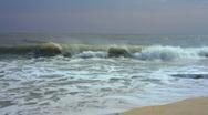 T301 slow motion waves ocean sea beach Stock Footage