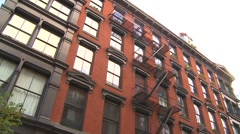 Stock Video Footage of New York City, Soho tenement housing