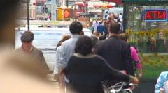 New York City, NOHO neighborhood, people walking Stock Footage