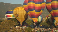 Stock Video Footage of Hot air balloon matching twins