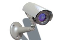 surveillance camera, loop-able 3d animation - stock footage