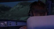 Flight simulator Stock Footage