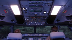 Flight simulator - stock footage