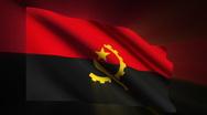 Angola Flag Stock Footage